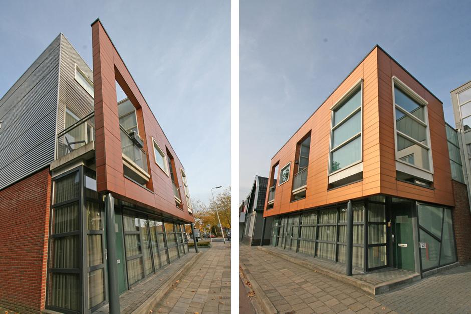 Idioom Architecten - Haaksbergen - nieuwbouw commerciële ruimte met twee bovenwoningen aan de Blankenburgerstraat