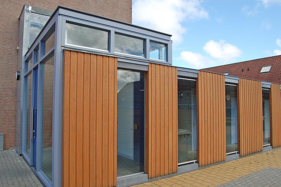 Idioom Architecten - Lelystad - nieuwe entrees en bergingen bovenwoning aan de Merenlaan